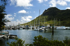 Nawiliwili Boots-Hafen Lizenzfreies Stockbild