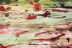 Nawoskuje papier z zielonymi akwarela odcieniami i burnt, rocznika tło Obraz Royalty Free