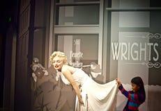 Nawoskuje statuę marlin munro przy Madame tussauds Londyńskimi Fotografia Royalty Free