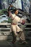 Nawoskuje statuę Michelle yeoh na pokazie, przy madame tussauds w Hong kong obrazy royalty free