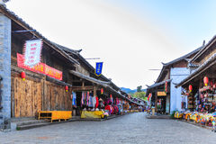 Naxi Acient Commercial Street Royalty Free Stock Photo