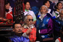 Naxi ancient music concert. This concert holds every night in lijiang city of china,it known as Music fossil,all players are older than 60 and music they play Royalty Free Stock Photography