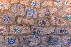 Naxi Dongba paintings in Lijiang. Only few elderly people can read these characters Stock Images
