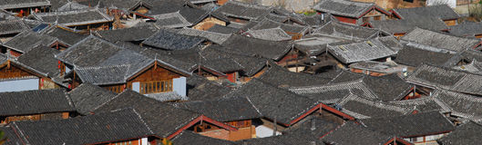 Naxi  dwellings in southwest China Stock Images
