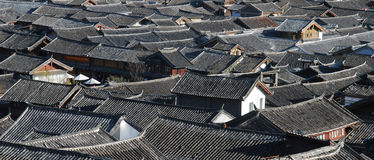 Naxi  dwellings in southwest China Royalty Free Stock Images