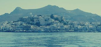 Naxos en Venetiaanse Citadel Stock Afbeeldingen