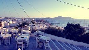 Naxos, Griechenland von oben Lizenzfreies Stockfoto