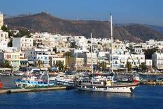 Naxos harbor, Greece Stock Image