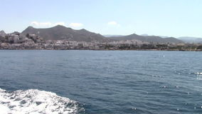 Naxos island. Arriving in Naxos island with the ferryboat stock video