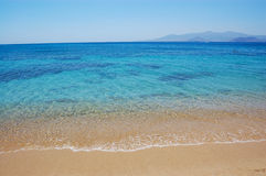Naxos island beach view Royalty Free Stock Image