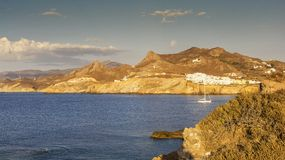Naxos island in Greece Cyclades Stock Photography