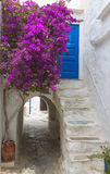 Naxos island in Greece. The medieval town of Naxos island in Greece Stock Images