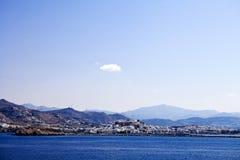 Naxos. Island and port of Stock Image