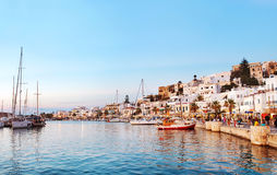 Naxos old town sunset, Greece. Royalty Free Stock Image