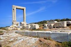 Naxos Portara Stock Images