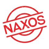 Naxos rubber stamp Royalty Free Stock Photo