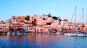 Naxos from the sea Royalty Free Stock Photo