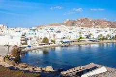 Naxos-Stadtstrand, Griechenland stockfotos
