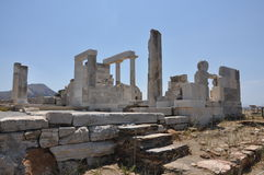 NAXOS TEMPLE OF DEMETER Royalty Free Stock Images