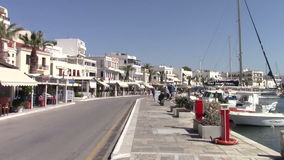 Naxos town stock footage