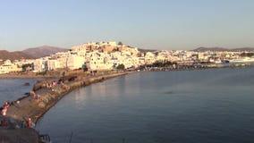 Naxos town stock video