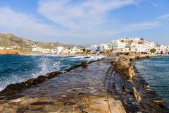 Naxos town Stock Photos