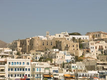 Naxos view. Greek island in Cyclades. Stock Image