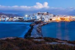 Naxos wyspy widok z lotu ptaka Obrazy Royalty Free