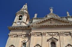 Naxxar church Malta. Naxxar church architecture Malta Rabat Royalty Free Stock Photo