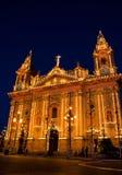 Naxxar Gemeinde-Kirche in der festlichen Stimmung Lizenzfreies Stockbild