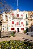 Naxxar grodzkiego centre kwadrat, Malta zdjęcia stock