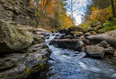 Nay Aug Gorge in Autumn. Fall at the scenic Nay Aug Gorge in Scranton royalty free stock image