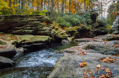 Nay Aug Gorge en otoño imagenes de archivo