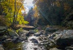 Nay Aug Gorge im Herbst Stockfotos