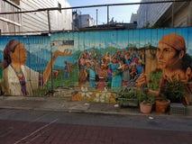 Naya Bihana, malowidła ścienne W misja okręgu, San Fransisco Obrazy Stock