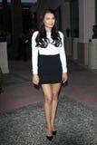 Naya Rivera arrives at the Glee TV Academy Screening and Panel. LOS ANGELES - MAY 1: Naya Rivera arrives at the Glee TV Academy Screening and Panel at TV Academy royalty free stock images