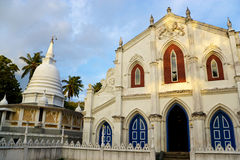 Nayake Buddhist Temple & Christian Church Stock Photography