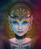 Nayla A, 3d CG royalty free illustration