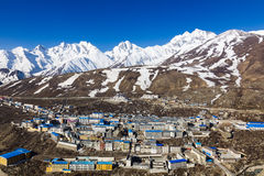Naylam in Tibet. On the way to Everest & Cho Oyu base Camps Royalty Free Stock Photos