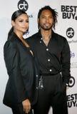 Nazanin Mandi and Miguel stock photography
