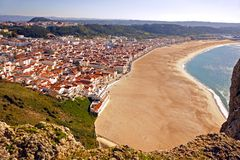 Nazaré, Praia, seen from Sítio Stock Photography