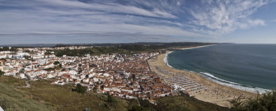 Nazaré city in Portugal, Europe. Royalty Free Stock Photography