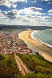 Nazaré is a popular seaside resorts in Portugal. Nazaré is one of the most popular seaside resorts in Portugal, it has long sandy beaches, considered by some Stock Images