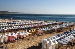 Nazaré strand. Arkivfoton