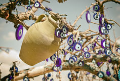 A nazar, charms to ward off the evil eye ,  in Cappadocia, Turke Royalty Free Stock Photos