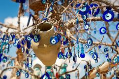 A nazar, charms to ward off the evil eye ,  in Cappadocia, Turke Stock Photos