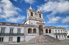 Nazaré, Portugal, the church Royalty Free Stock Photo
