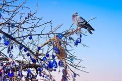 Nazar, uroki odganiać daleko złego oko w Cappadocia, Turcja Zdjęcie Stock
