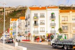 Nazare,葡萄牙海岸  库存照片
