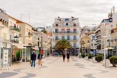 Nazare,葡萄牙海岸  库存图片